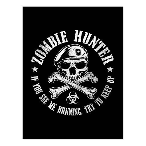 zombie hunter undead living dead postcards