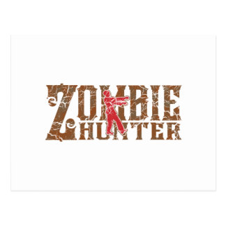 Zombie Hunter Walking Dead Gifts Postcard