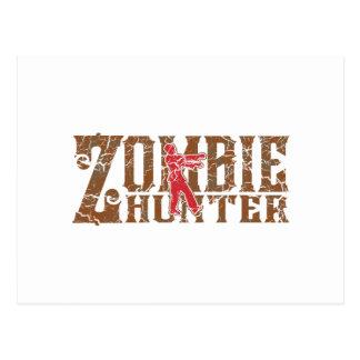 Zombie Hunter Walking Dead Gifts Postcard