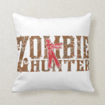 Zombie Hunter Walking Dead Gifts Throw Pillows