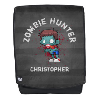 Zombie Hunter with Blood Splatter Creepy Cool Backpack
