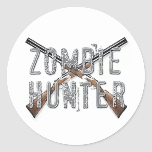 Zombie Hunter with Guns Stickers