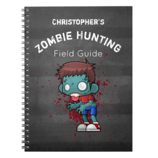 Zombie Hunting Field Guide Funny Notebook