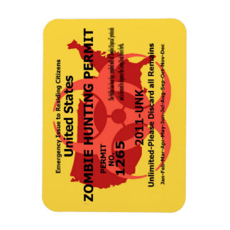 Zombie Hunting Permit Magnet