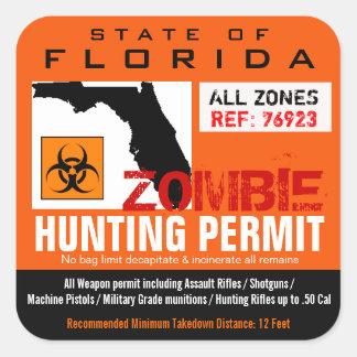 Zombie Hunting Permit Sticker