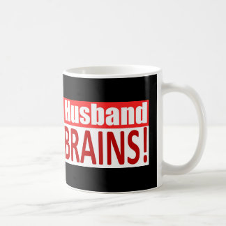 Zombie Husband Loves Brains BUMPER Design Coffee Mugs