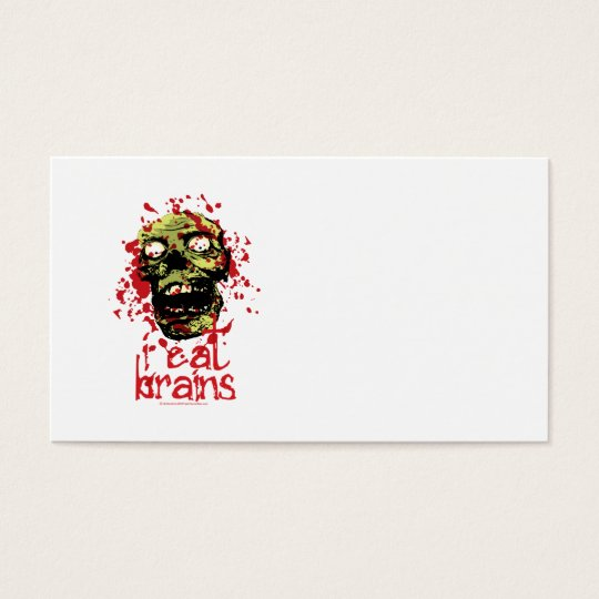 Zombie I Eat Brains 2 Business Card