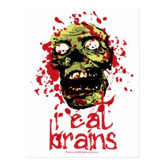 Zombie I Eat Brains 2 Postcard