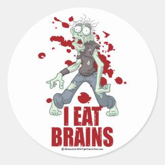 Zombie: I Eat Brains Classic Round Sticker