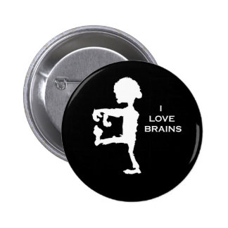 Zombie - I love brains Pinback Button
