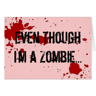 Zombie: I Love You For Your Brains Valentine's Day Card