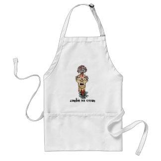 zombie ice cream adult apron