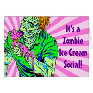 Zombie Ice Cream Greeting Card
