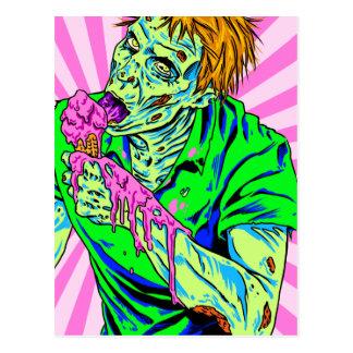 Zombie Ice Cream Postcard