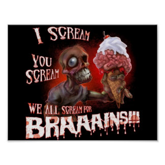 zombie ice cream poster