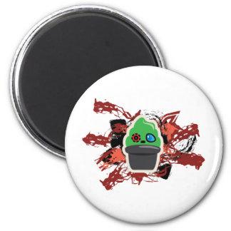 zombie Icecream 2 Inch Round Magnet