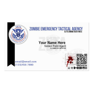 Zombie ID/Business Card ZETA Double-Sided Standard Business Cards (Pack Of 100)