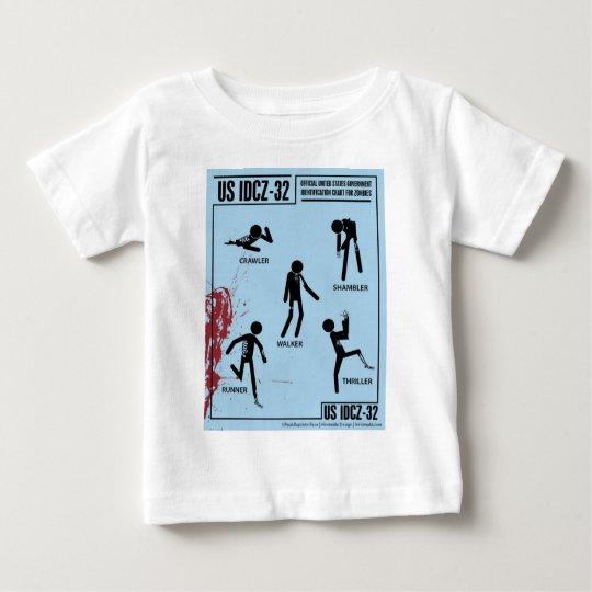 Zombie Identification Chart Baby T-Shirt