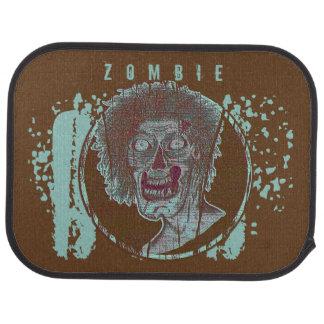 Zombie! Illustrated Zombie Head Foam Green/Brown Car Mat