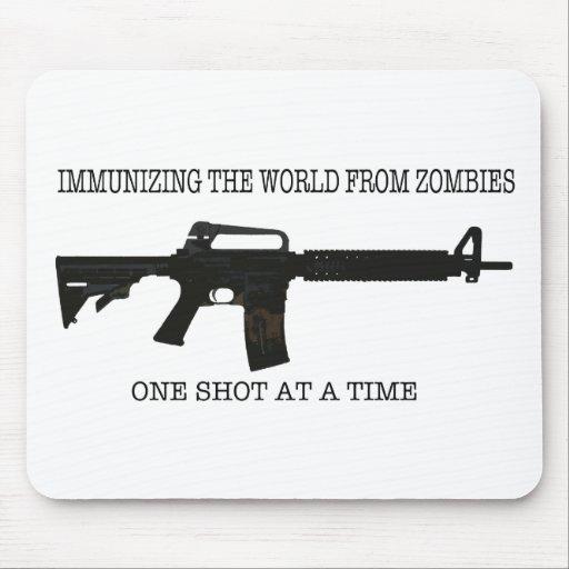 Zombie immunizations mouse pad