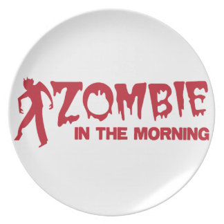 Zombie in the Morning! Dinner Plate