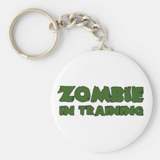 Zombie In Training Basic Round Button Keychain