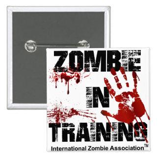 Zombie in Training 2 Inch Square Button