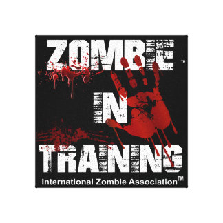 Zombie in Training Canvas Print