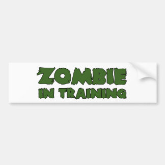 Zombie In Training Car Bumper Sticker