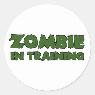 Zombie In Training Round Sticker
