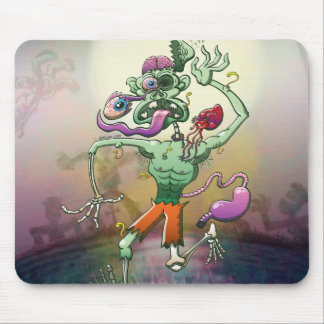 Zombie in Trouble Falling Apart Mouse Pad