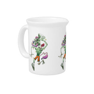 Zombie in Trouble Falling Apart Beverage Pitcher