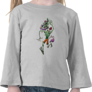 Zombie in Trouble Falling Apart Tee Shirt