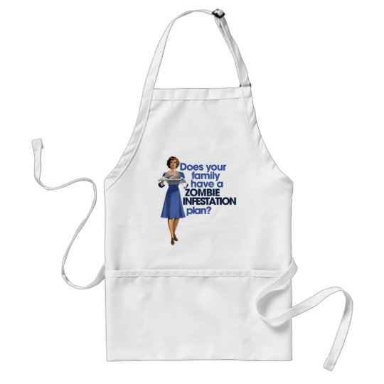 Zombie Infestation Plan Adult Apron
