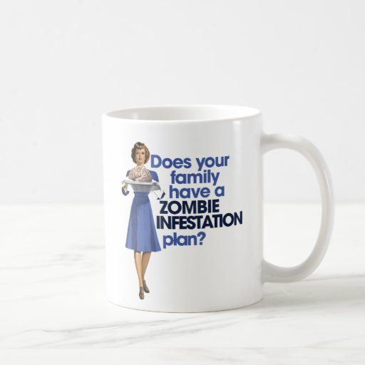 Zombie Infestation Plan Mugs