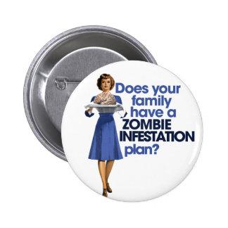 Zombie Infestation Plan Pinback Button