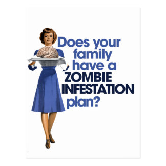 Zombie Infestation Plan Postcard