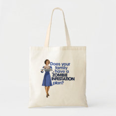 Zombie Infestation Plan Tote Bag at Zazzle