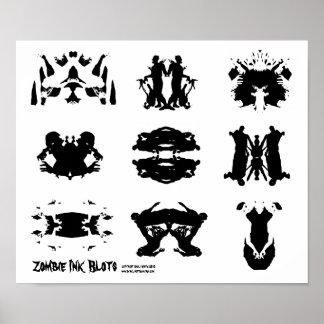 Zombie Ink Blot Rorschach dark psychology Art Print