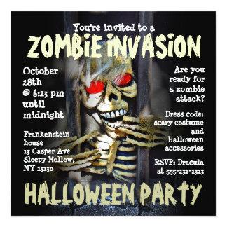 Zombie Invasion Halloween Party Invitation