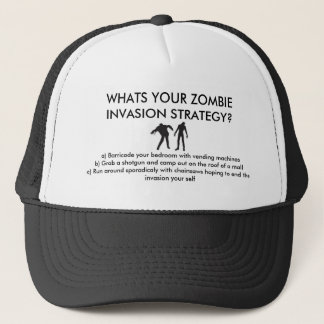 ZOMBIE INVASION STRATS TRUCKER HAT