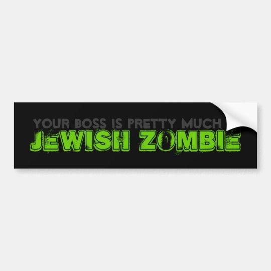Zombie Jesus Bumper Sticker