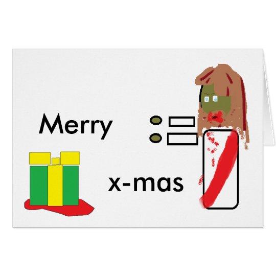 Zombie Jesus Christmas Card