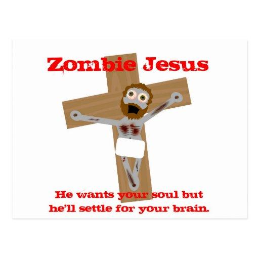 Zombie Jesus Postcard