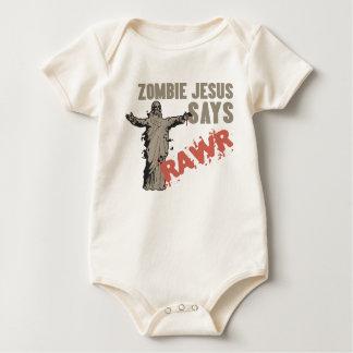 Zombie Jesus Says RAWR Baby Bodysuit