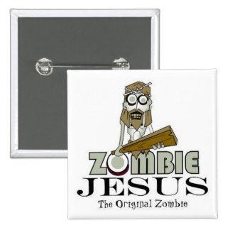 Zombie Jesus Square Button
