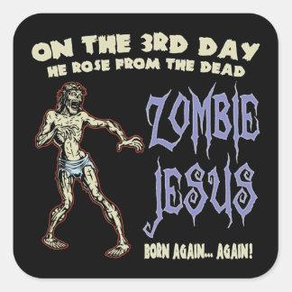 Zombie Jesus Square Sticker