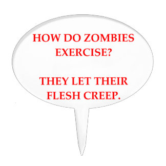 zombie joke cake topper