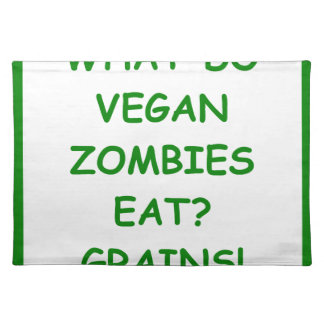 zombie joke cloth placemat