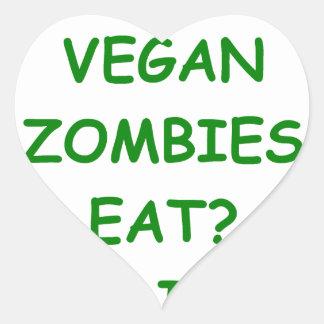 zombie joke heart sticker